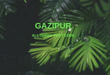 Gazipur District – All Thana or Upazila Postcode or Zip Code