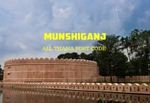 Munshiganj District – All Thana or Upazila Postcode or Zip Code