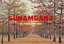 Sunamganj District – All Thana or Upazila Postcode or Zip Code